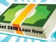 $800 loan