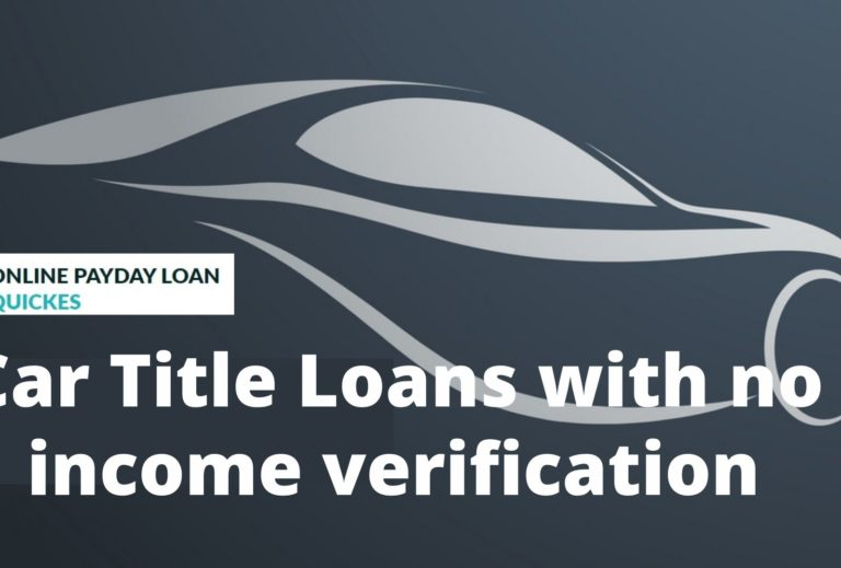 Car Title Loan with no income verification